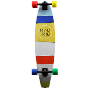 Madrid Transporter Paper Stripes Longboard